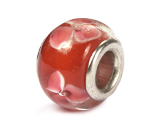 Z3706 3706 Cuenta cristal DO-LINK bola rojo con flores Innspiro