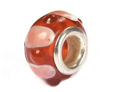 Z3707 3707 Cuenta cristal DO-LINK bola con relieve rojo Innspiro