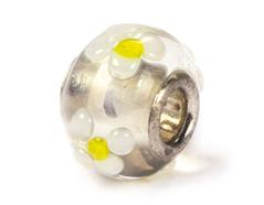 Z3716 3716 Cuenta cristal DO-LINK bola transparente con flores Innspiro
