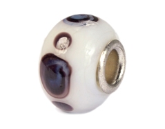 Z3725 3725 Cuenta cristal DO-LINK bola blanco con puntos Innspiro