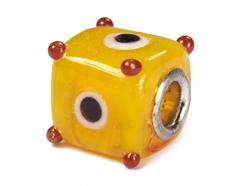 Z3730 3730 Cuenta cristal DO-LINK cubo amarillo Innspiro