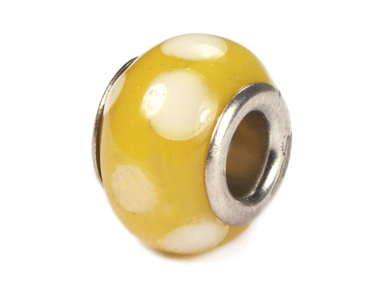 Z3732 3732 Cuenta cristal DO-LINK bola amarillo con puntos Innspiro