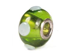 3734 Z3734 Cuenta cristal DO-LINK bola verde con puntos Innspiro