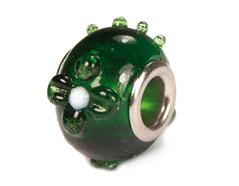 Z3735 3735 Cuenta cristal DO-LINK bola con relieve verde Innspiro