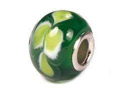 Z3736 3736 Cuenta cristal DO-LINK bola verde con flor Innspiro