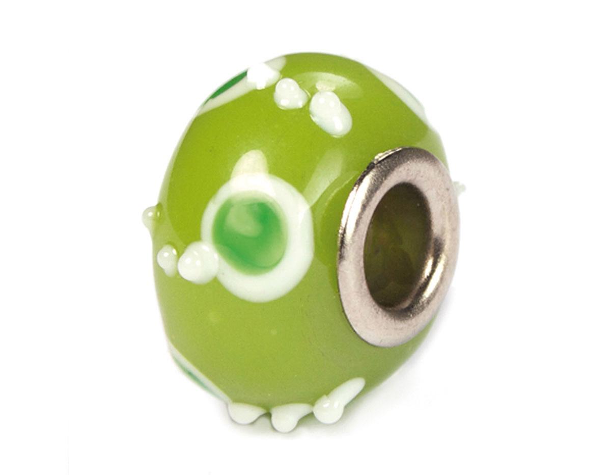 Z3737 3737 Cuenta cristal DO-LINK bola verde con puntos Innspiro