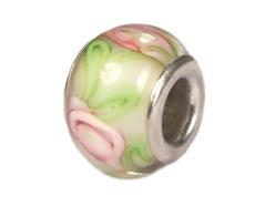 Z3739 3739 Cuenta cristal DO-LINK bola verde con flor Innspiro