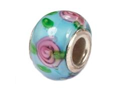 Z3741 3741 Cuenta cristal DO-LINK bola azul con flores Innspiro - Ítem