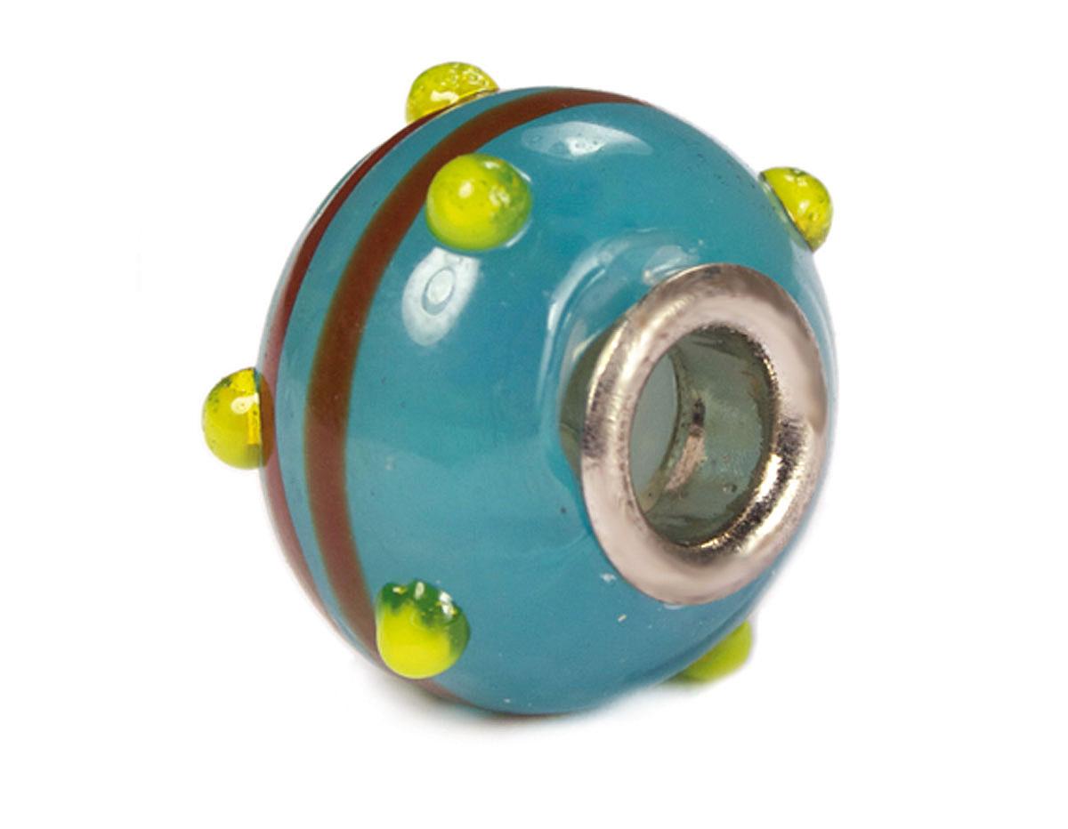 Z3742 3742 Cuenta cristal DO-LINK bola azul oceano con rayas Innspiro