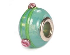 Z3743 3743 Cuenta cristal DO-LINK bola azul oceano con puntos Innspiro