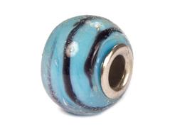 Z3744 3744 Cuenta cristal DO-LINK bola azul rayas puntos Innspiro