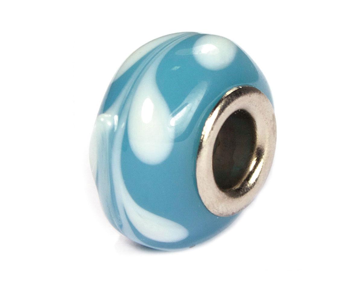 Z3746 3746 Cuenta cristal DO-LINK bola azul con cenefa Innspiro