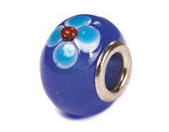 Z3749 3749 Cuenta cristal DO-LINK bola azul marino flor Innspiro