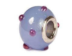 Z3750 3750 Cuenta cristal DO-LINK bola azul grisaceo puntos Innspiro