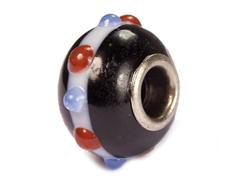 Z3754 3754 Cuenta cristal DO-LINK bola negro con corona Innspiro