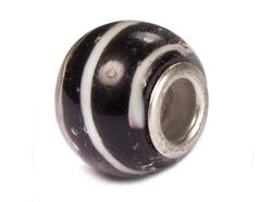 Z3756 3756 Cuenta cristal DO-LINK bola negro con espiral Innspiro