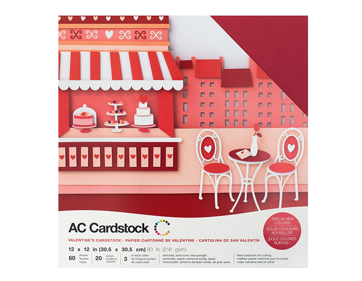 376984 Set 60 cartulinas Valentines Variety Pack American Crafts