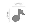39608 Troqueladora de figuras Eva Foam Punch nota musical Innspiro - Ítem2