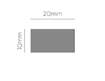 39610 Troqueladora de figuras Eva Foam Punch rectangulo Innspiro - Ítem2