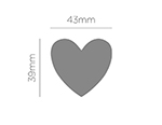 39806 Troqueladora de figuras Eva Foam Punch corazon Innspiro - Ítem2