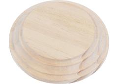 4018 4019 4020 Peana madera pino macizo redonda de Altura 1 5cm Innspiro - Ítem