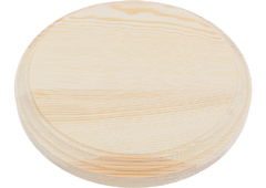 4021 4022 4023 4024 4026 Peana madera pino macizo redonda de altura 2 3cm Innspiro - Ítem