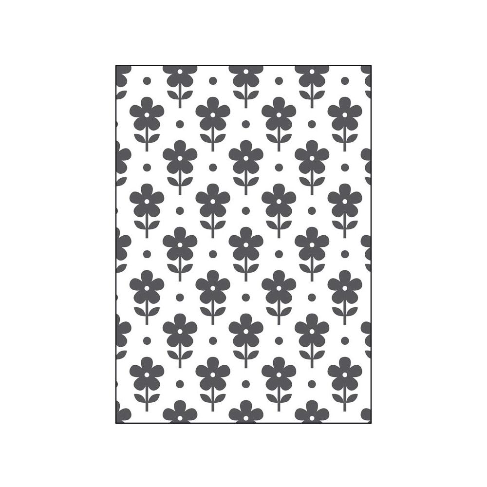 41019 Carpeta de repujado 2D PUSH Flores Misskuty