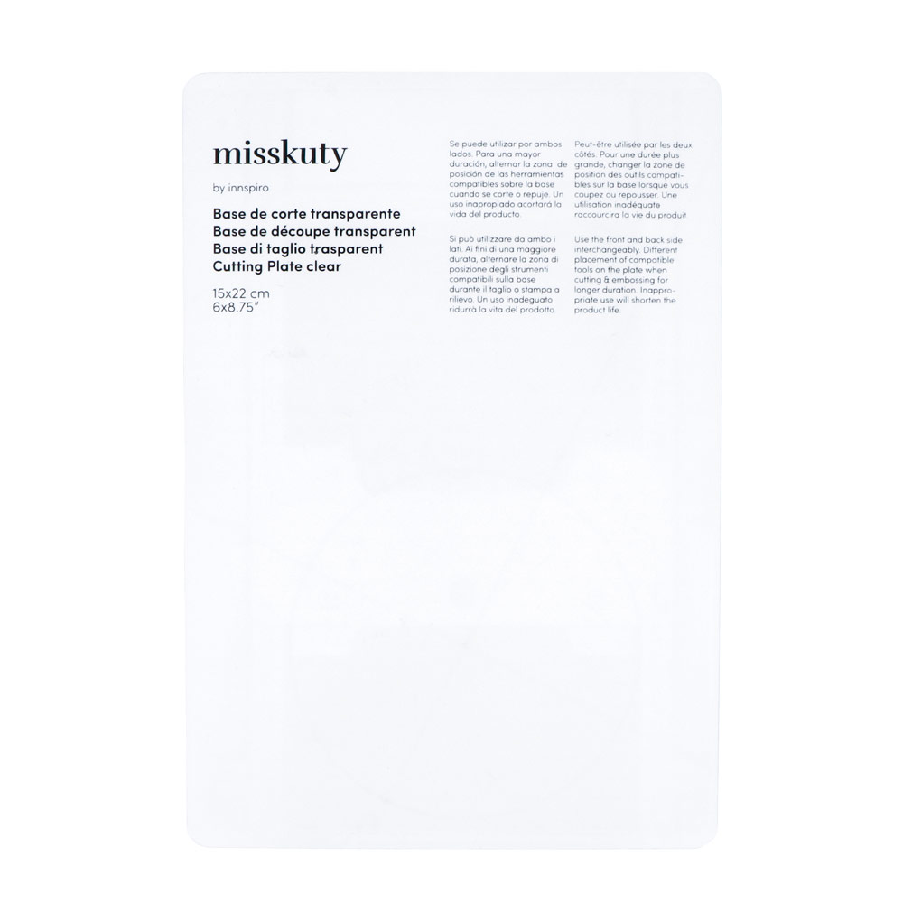 41050 Base de corte transparente pequena para maquina MISSKUTY Misskuty