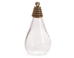43317-AG Colgante vidrio gota transparente con cierre metalico dorado envejecido Innspiro - Ítem