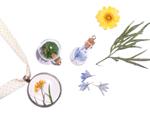 43323-04 Colgante vidrio flor transparente con cierre corcho Innspiro - Ítem1