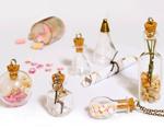 43323-05 Colgante vidrio botella redonda con bajo relieve transparente con cierre corcho Innspiro - Ítem2