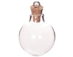 43323-11 Colgante vidrio botella bola transparente con cierre corcho Innspiro