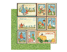 4500747 MOTHER GOOSE-PAPER 12X12 STORYTIME 1u Graphic45