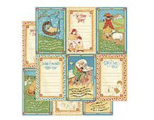 4500753 MOTHER GOOSE-PAPER 12X12 LITTLE BOY BLUE 1u Graphic45