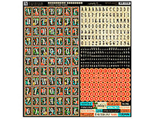 4500832 COUTURE - COUTURE ALPHABET STICKERS Graphic45