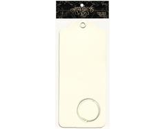4500849 Set 6 etiquetas grandes carton Ivory y 1 anilla metalica Graphic45