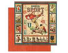 4500852 GOOD OL SPORT-PAPER 12X12 GOOD OL SPORT 1u Graphic45