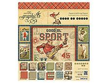 4500866 GOOD OL SPORT-12X12 PAD Graphic45