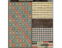 4500870 GOOD OL SPORT ALPHABET STICKERS Graphic45
