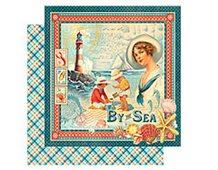 4500899 BY THE SEA-PAPER 12X12 BY THE SEA 1u Graphic45