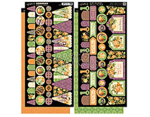 4500945 Set 2 hojas de papel doble cara con pancartas pre-cortadas AN EERIE TALE Graphic45