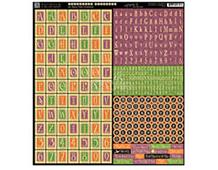4500951 Hoja adhesiva con alfabeto pre-cortadas AN EERIE TALE Graphic45