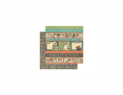 4500967 Papel doble cara RAINING CATS AND DOGS Animal House Graphic45