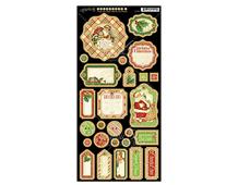 4500997 Carton con formas decorativas pre-cortadas TWAS THE NIGHT BEFORE CHRISTMAS Graphic45