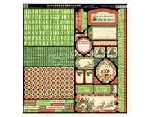 4500999 Pegatinas alfabeto y formas Twas the Night Before Christmas en hoja Graphic45