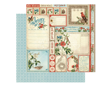 4501029 Papel doble cara January Cut Apart TIME TO FLOURISH Graphic45