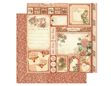 4501031 Papel doble cara February Cut Apart TIME TO FLOURISH Graphic45