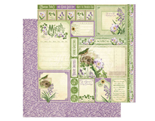 4501033 Papel doble cara March Cut Apart TIME TO FLOURISH Graphic45
