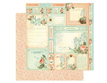 4501039 Papel doble cara June Cut Apart TIME TO FLOURISH Graphic45