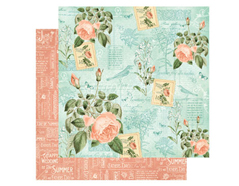 4501040 Papel doble cara June Flourish TIME TO FLOURISH Graphic45